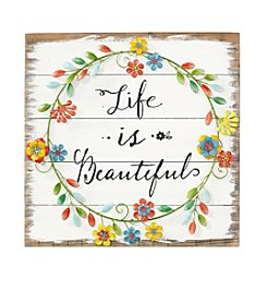 LivingQuarters Botanical Life Is Beautiful Wall Art