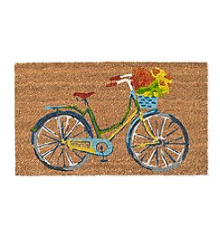 LivingQuarters Botanical Bike Welcome Mat