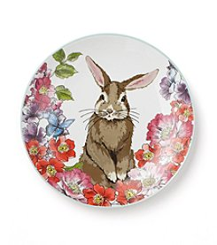 LivingQuarters Easter Single Bunny Plate