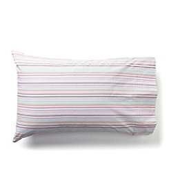 LivingQuarters Pattern Stripe Bright 225-Thread Count Set of 2 Pillowcases
