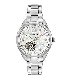 Bulova® Women's Automatic Stainless Steel Hand Set Diamond Watch