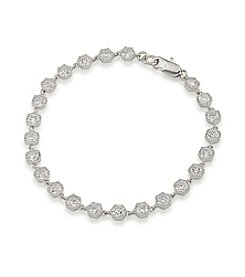 Lauren Ralph Lauren Headlines Clear Hexagon Flex Bracelet