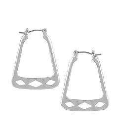 The Sak® Pierced Trapezoid Hoop Earring