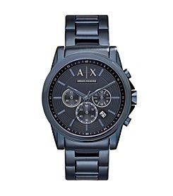 A|X Armani Exchange Men's Blue IP Bracelet Watch