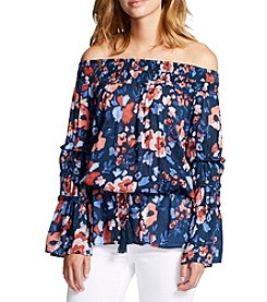 William Rast® Off-Shoulder Poppy Blouse