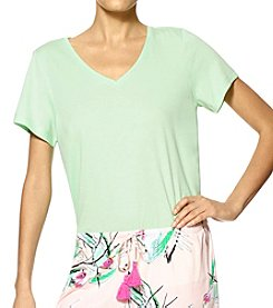 HUE® Solid V-Neck Top