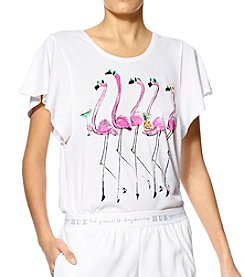 HUE® Flamingo Pajama Top