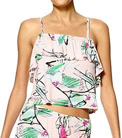 HUE® Lala Bird Crop Pajama Tank