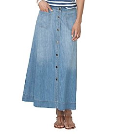 Chaps® A-Line Denim Skirt