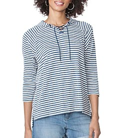 Chaps® Striped Waffle-Knit Hoodie