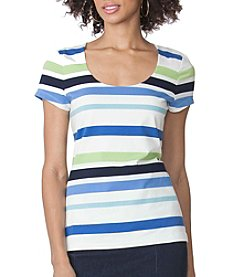Chaps® Striped Jersey Scoopneck Tee