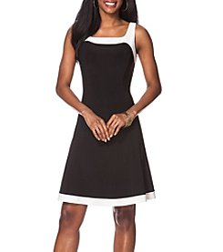 Chaps® Fit And Flare Matte Jersey Dress