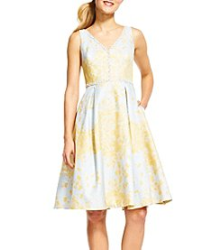 Adrianna Papell® Fit And Flare Jacquard Dress