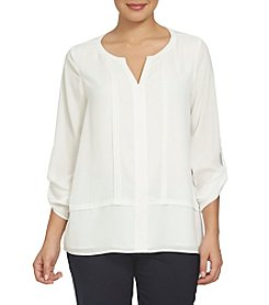 Chaus Roll Tab Blouse