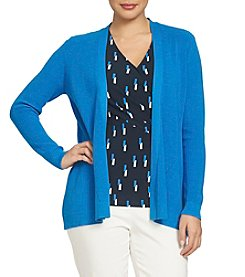 Chaus Solid Open Front Cardigan