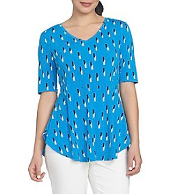 Chaus Geo V-Neck Top