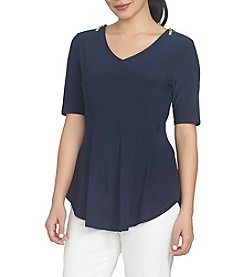 Chaus V-Neck Solid Top