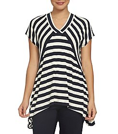 Chaus Striped V-Neck Top