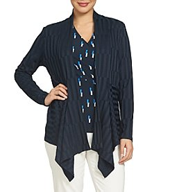 Chaus Asymmetrical Open Front Cardigan