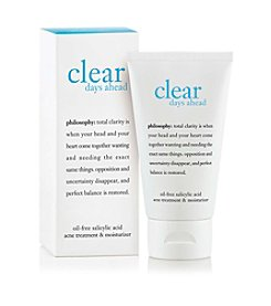 philosophy® Clear Days Ahead Oil Free Salicylic Acid Acne Treatment And Moisturizer