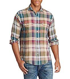 Polo Ralph Lauren® Men's Plaid Linen Workshirt