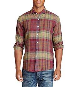 Polo Ralph Lauren® Men's Plaid Linen Sport Shirt