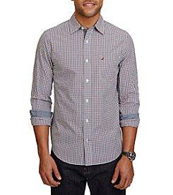Nautica® Men's Long Sleeve Floral Print Woven Button Down Shirt