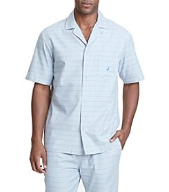 Nautica® Men's Herringbone Camp Pajama Shirt