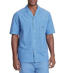Nautica® Men's New Fit Short Sleeve Plaid Camp Pajama Shirt