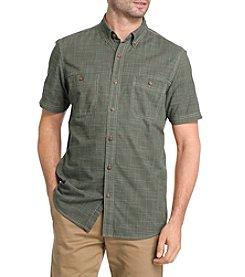 G.H. Bass & Co. Men's Short Sleeve Crosshatch Woven