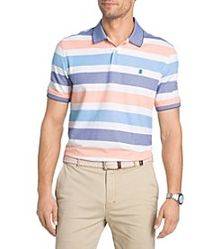 Izod® Men's Short Sleeve Advantage Oxford Stripe Polo