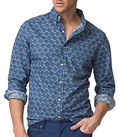 Chaps® Men's Long Sleeve Cotton Poplin Printed Woven