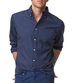 Chaps® Men's Long Sleeve Cotton Poplin Printed Button Down
