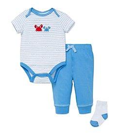 Little Me® Baby Boys Crabs Bodysuit Set
