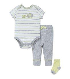 Little Me® Baby Boys Elephants Bodysuit Set