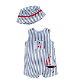 Little Me® Baby Boys Sailboat Sunsuit And Hat
