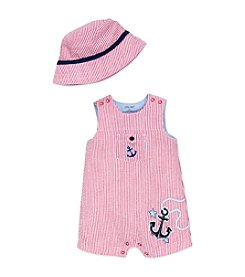 Little Me® Baby Boys Nautical Sunsuit And Hat