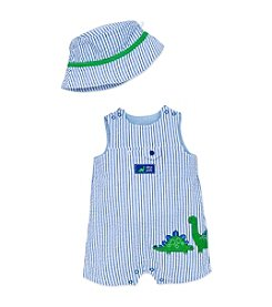 Little Me Baby Boys Dino Sunsuit And Hat
