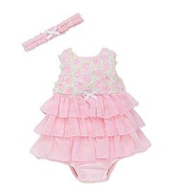 Little Me® Baby Girls' Rosette Popover Dress
