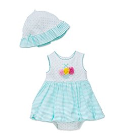 Little Me® Baby Girls' Striped Popover And Hat
