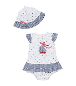 Little Me® Baby Girls' Sailboat Popover And Hat Set