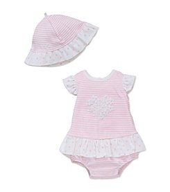 Little Me® Baby Girls' Daisy Heart Popover And Hat Set