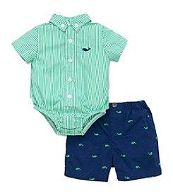 Little Me® Baby Boys Whale Shorts Set