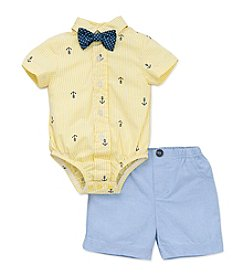 Little Me® Baby Boys Anchor Short Set And Tie