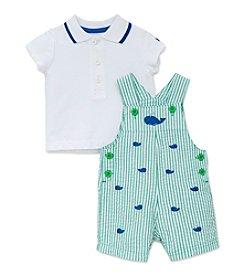 Little Me® Baby Boys Whales Shortalls