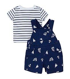 Little Me® Baby Boys Nautical Shortalls
