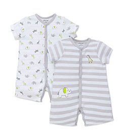 Little Me® Baby Boys Elephant 2-Pack Rompers