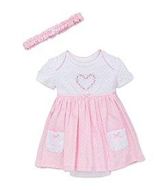 Little Me® Baby Girls' Heart Dot Bodysuit Dress