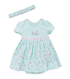 Little Me® Baby Girls' Bunnies Bodysuit Dress
