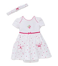 Little Me® Baby Girls' Strawberries Bodysuit Dress